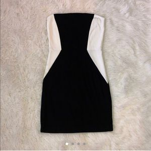 New (without tags) woman's black & white dress